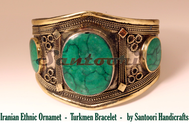 Iranian Ethnic Ornament - Turkmen Bracelet for Sale