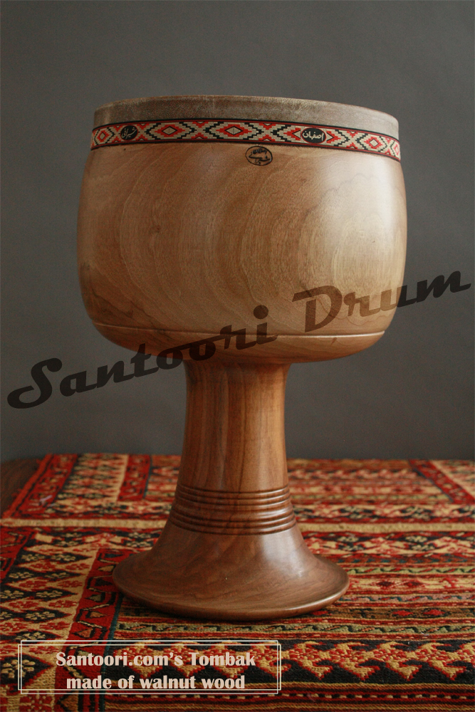 persian tombak made of walnut wood for sale